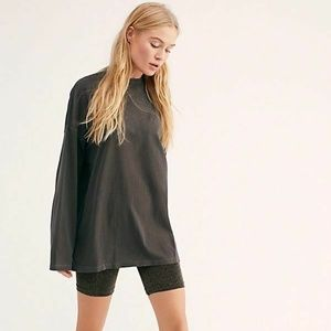 We The Free FREE PEOPLE Black BE FREE TUNIC Top